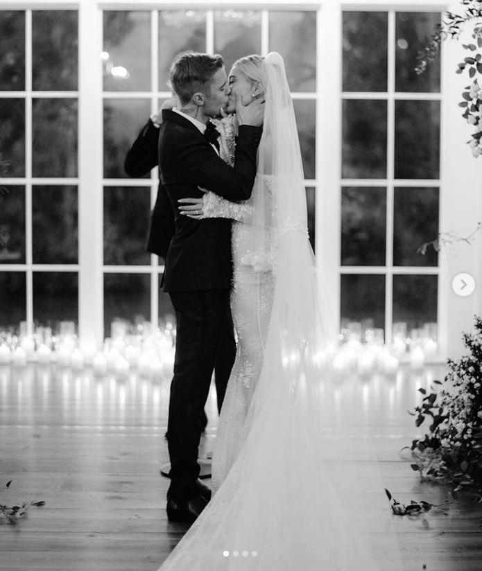 Zdjęcia ślubne Hailey Baldwin, fot. Instagram @haileybieber