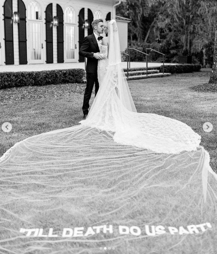 Ślub Justina i Hailey, fot. Instagram
