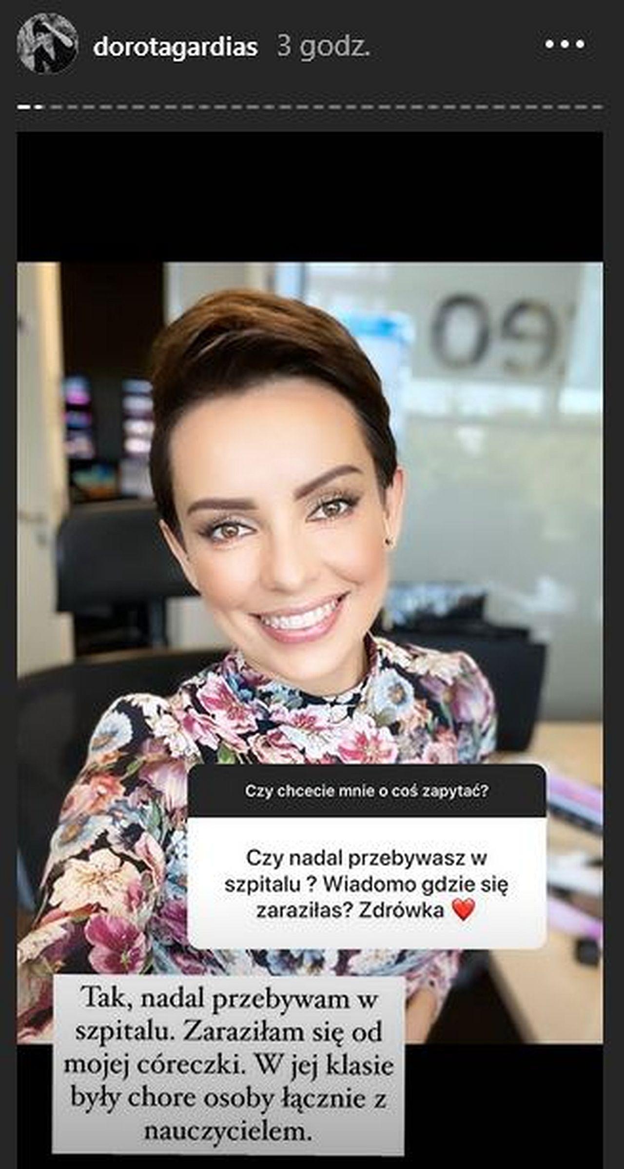 Dorota Gardias opisuje przebieg choroby