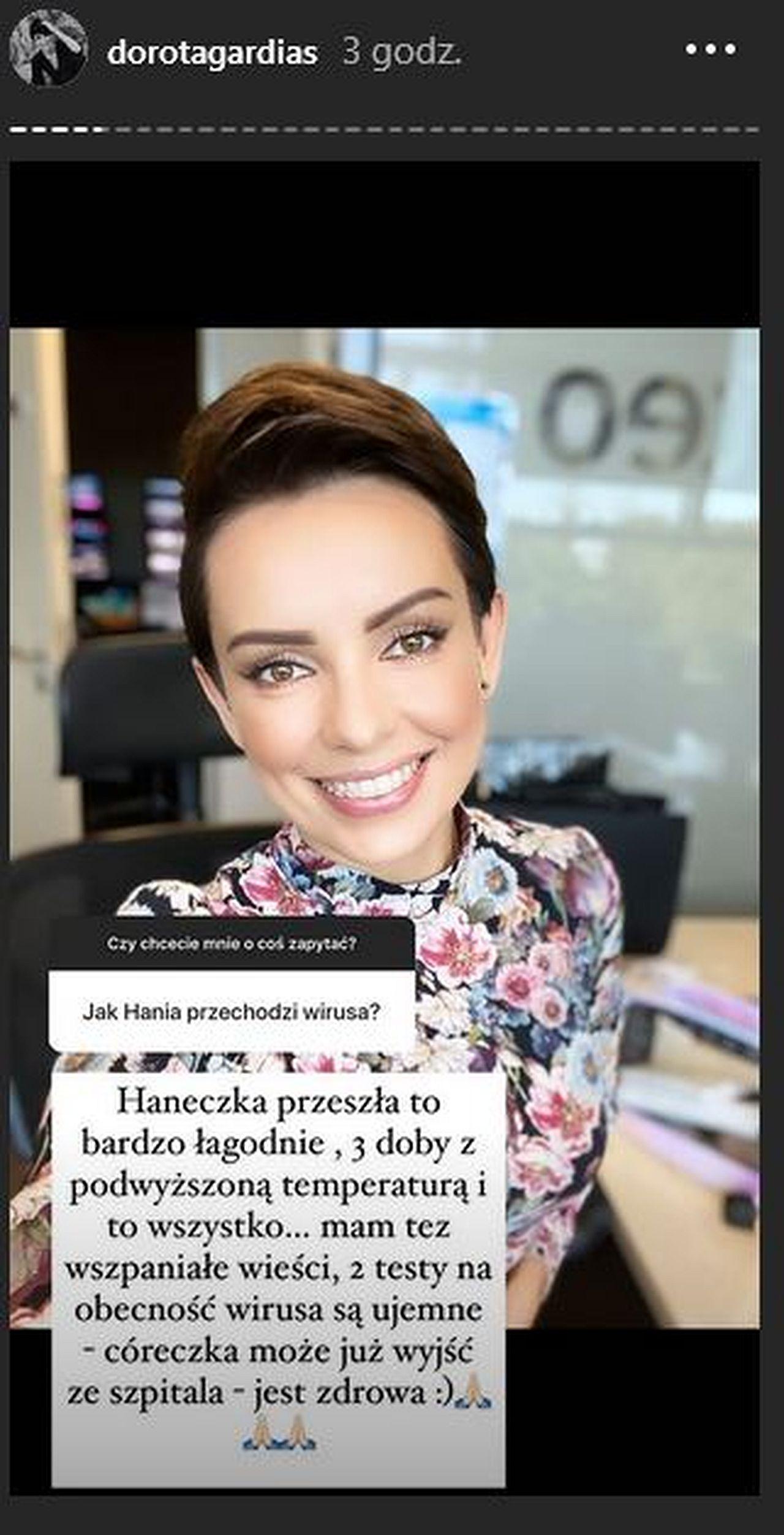 Dorota Gardias ma Covid-19