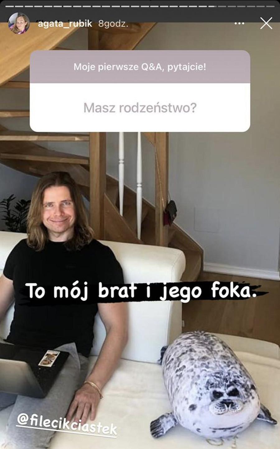 Agata Rubik pokazała starszego brata.