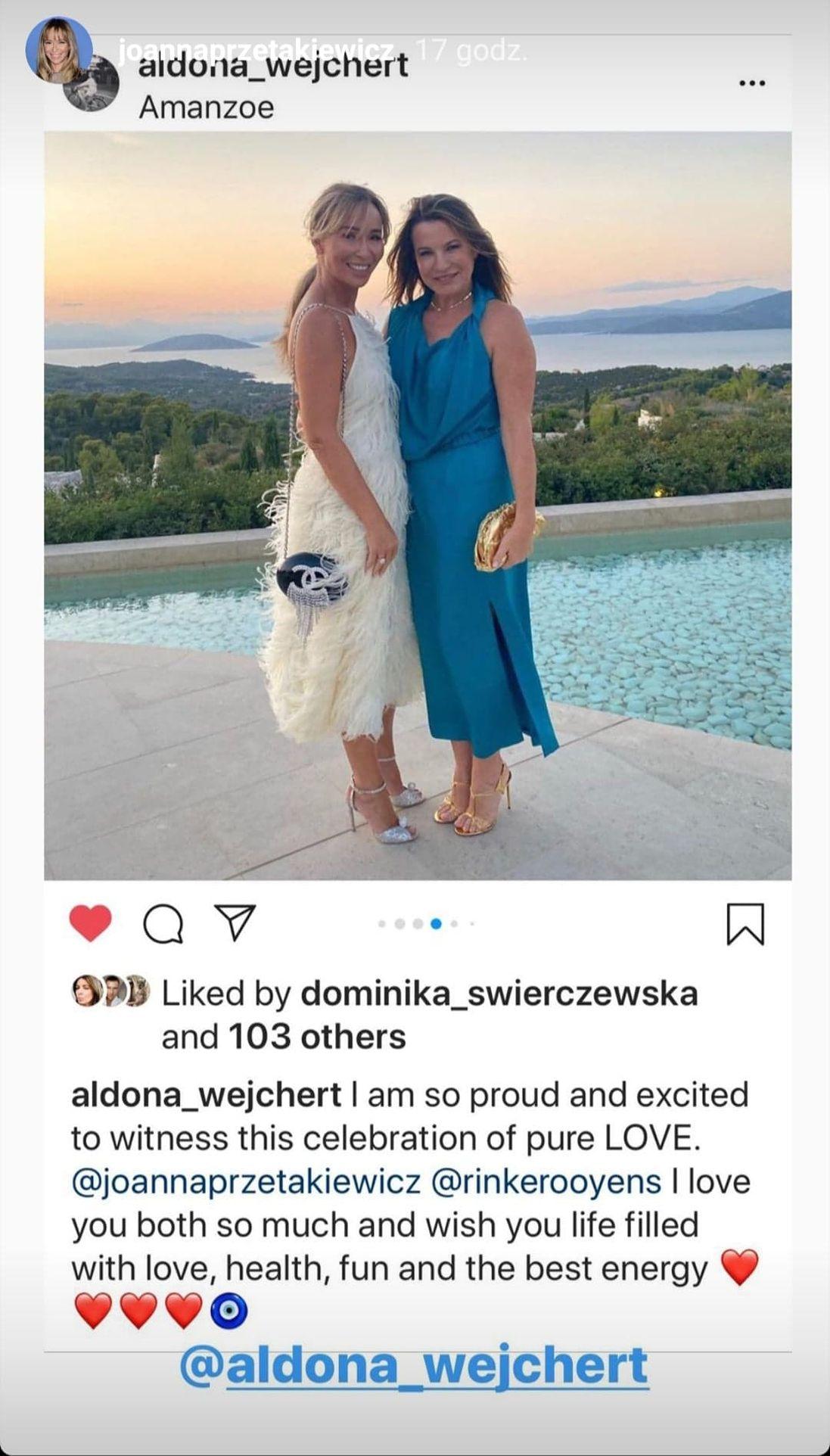 Joanna Przetakiewicz z koleżanką