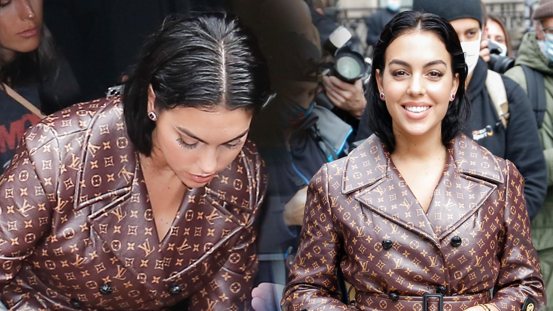 Georgina Rodriguez w płaszczu Louis Vuitton na paryskim Fashion Weeku (ZDJĘCIA)