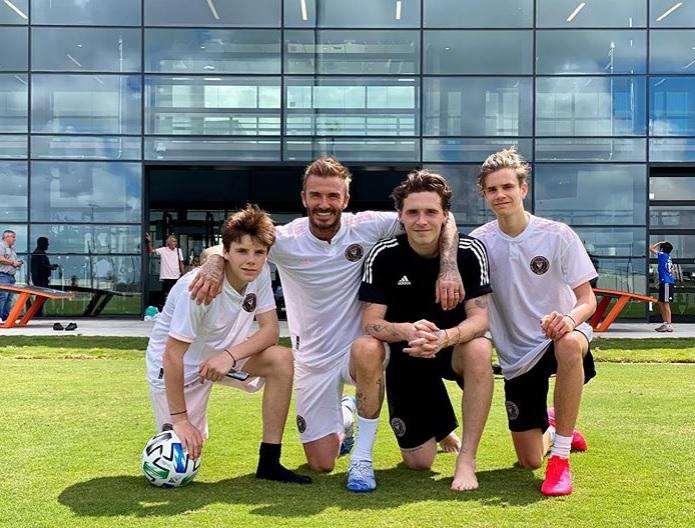 David Beckham z synami