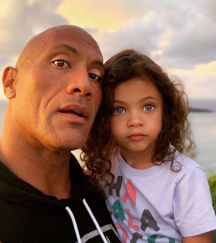 Dwayne z córką, fot. Instagram