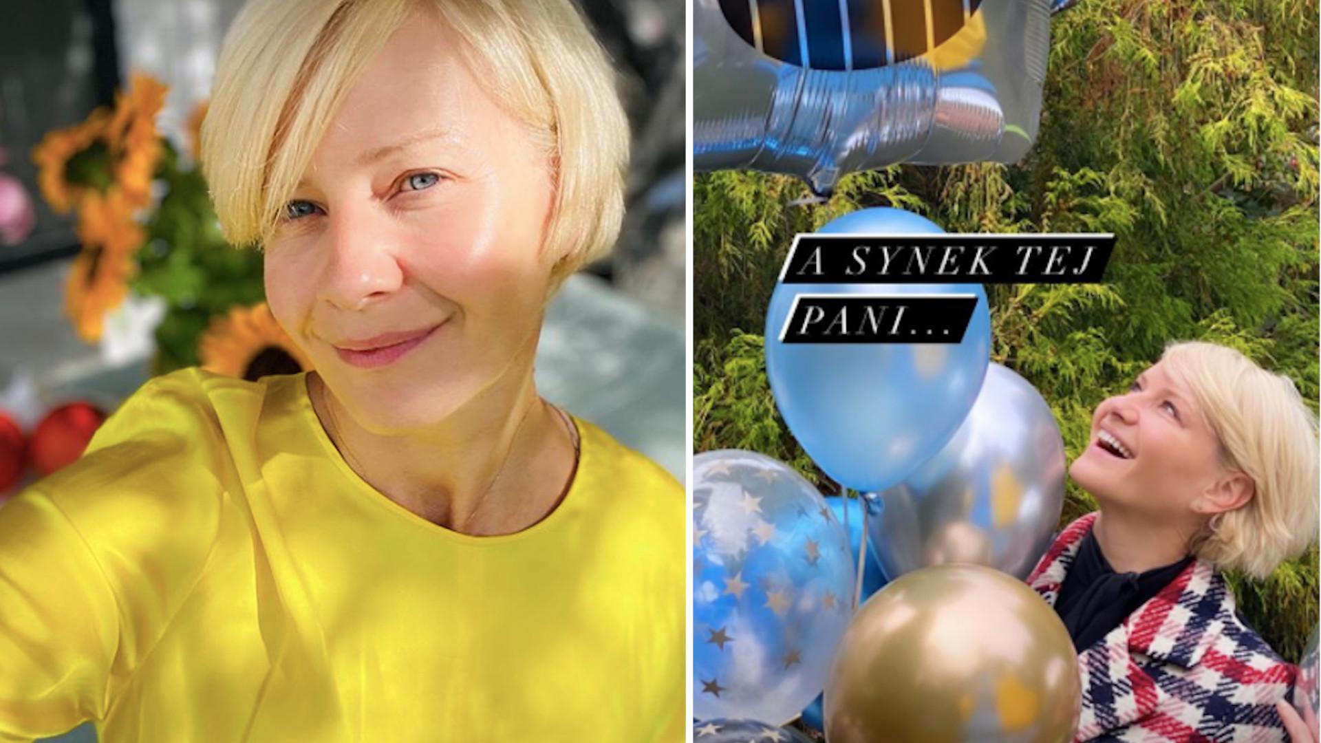 Małgorzata Kożuchowska wyprawiła synowi huczne urodziny w ogrodzie