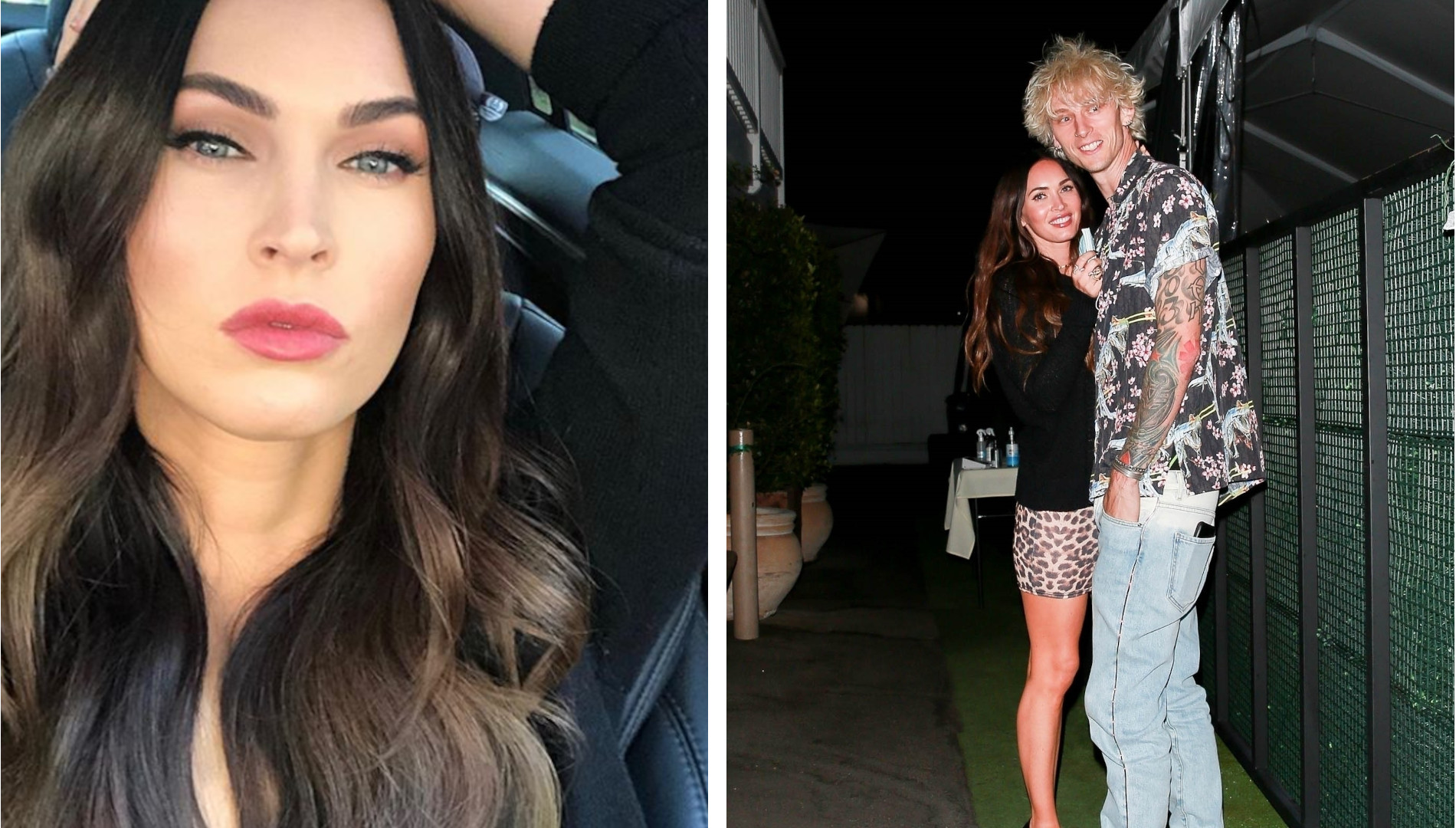Drapieżna Megan Fox na randce z Machine Gun Kelly. Stylowi?
