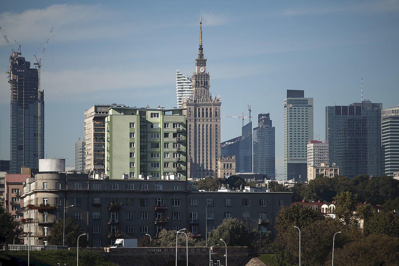 Panorama Warszawy z Mostu Poniatowskiego.