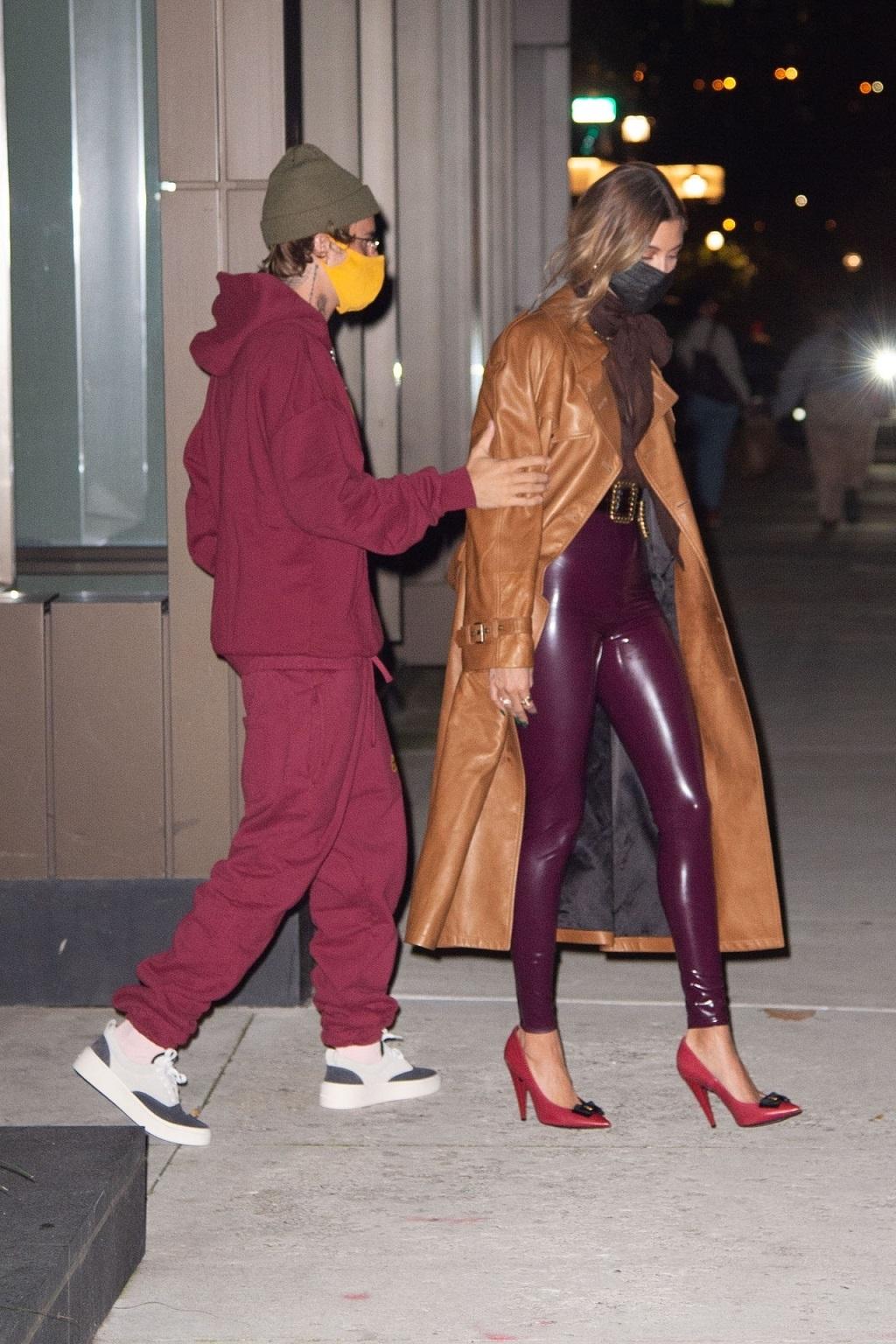 Justin Bieber z żoną w Nowym Jorku.