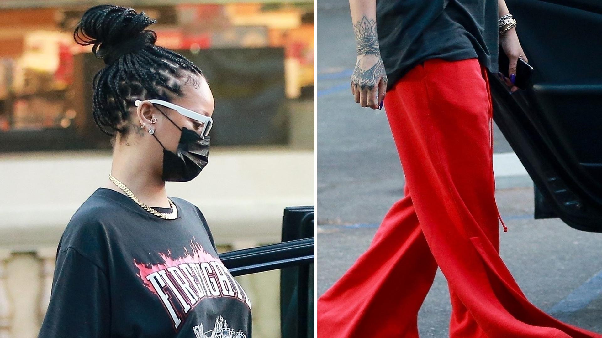 Rihanna w dziwnych spodniach robi zakupy spożywcze (FOTO)