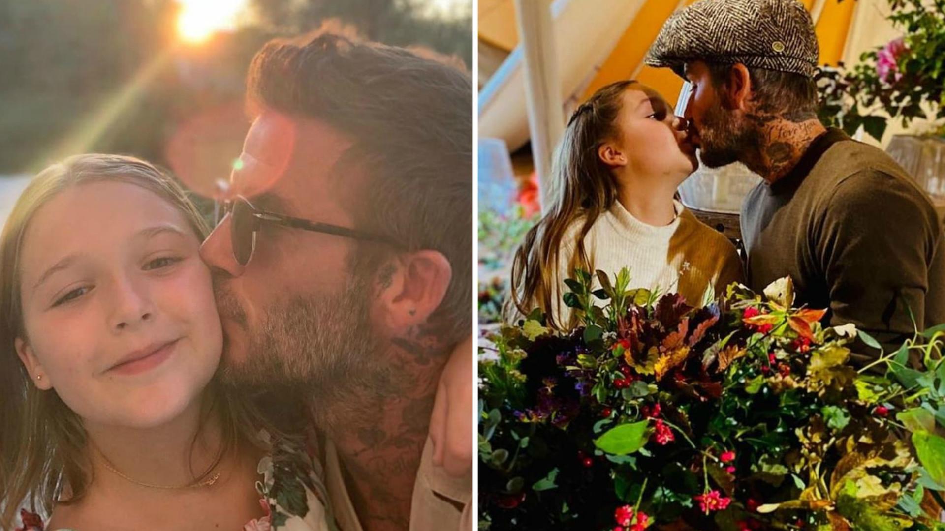 David Beckham skrytykowany. Poszło o CAŁOWANIE w usta 9-letniej córki