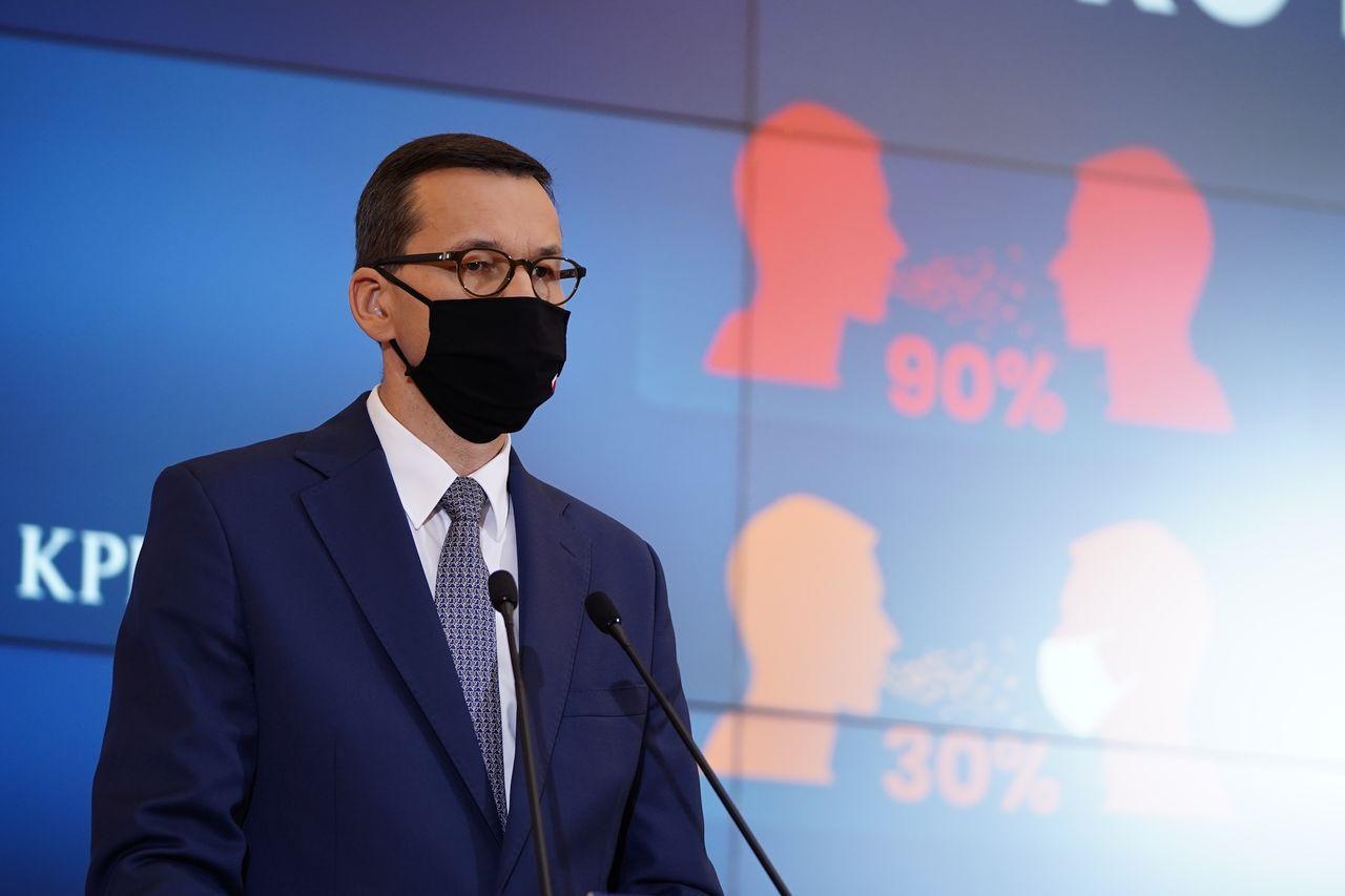 Mateusz Morawiecki podczas przemówienia