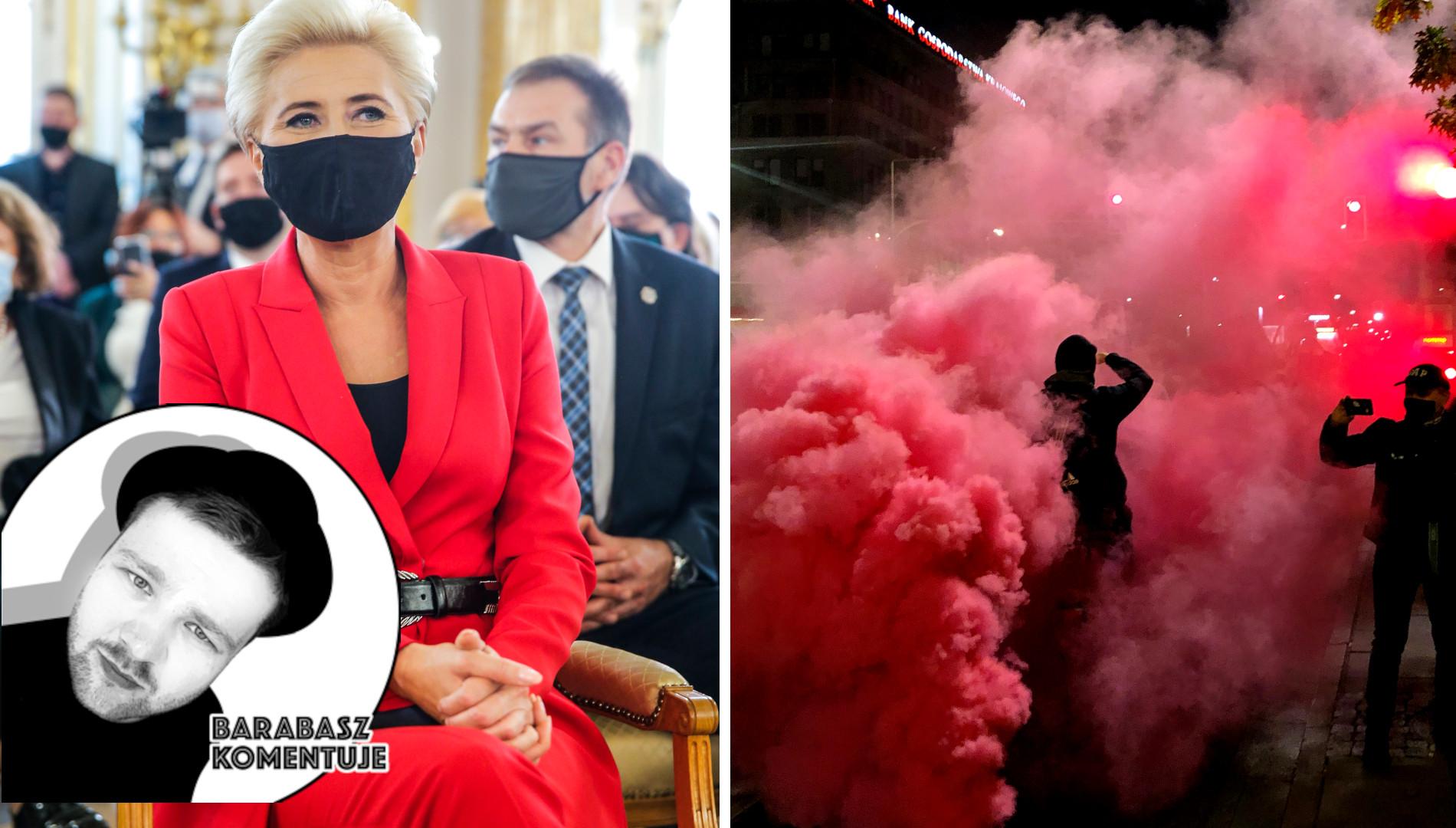 BARABASZ KOMENTUJE: Kiedy ludzie protestują, załóż sobie fanklub, czyli PR Agaty Dudy (FELIETON)