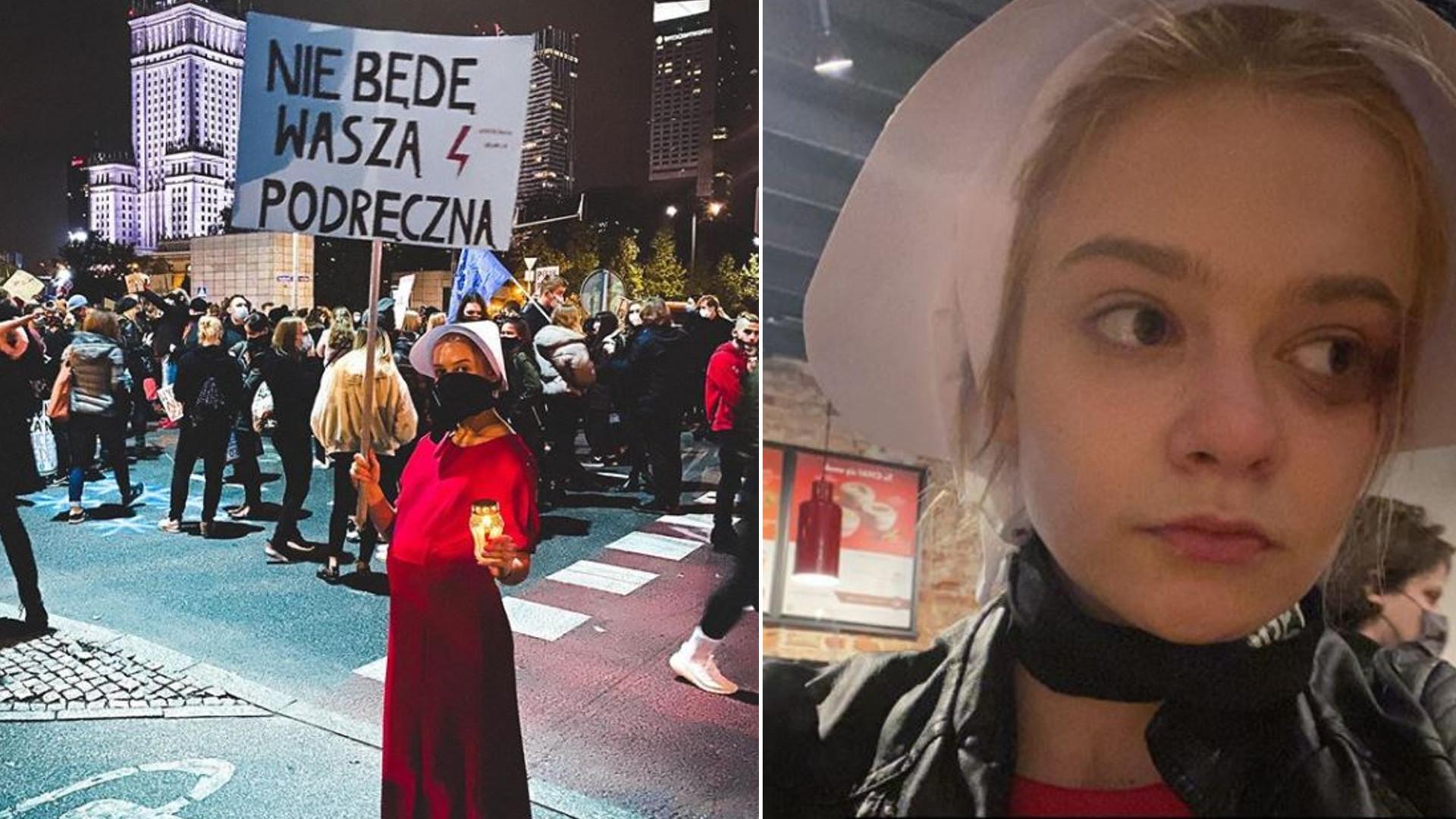 """Julia Wróblewska POBITA na strajku kobiet: """"Pozdrawiam ONR napier***ający kobiety!"""""""