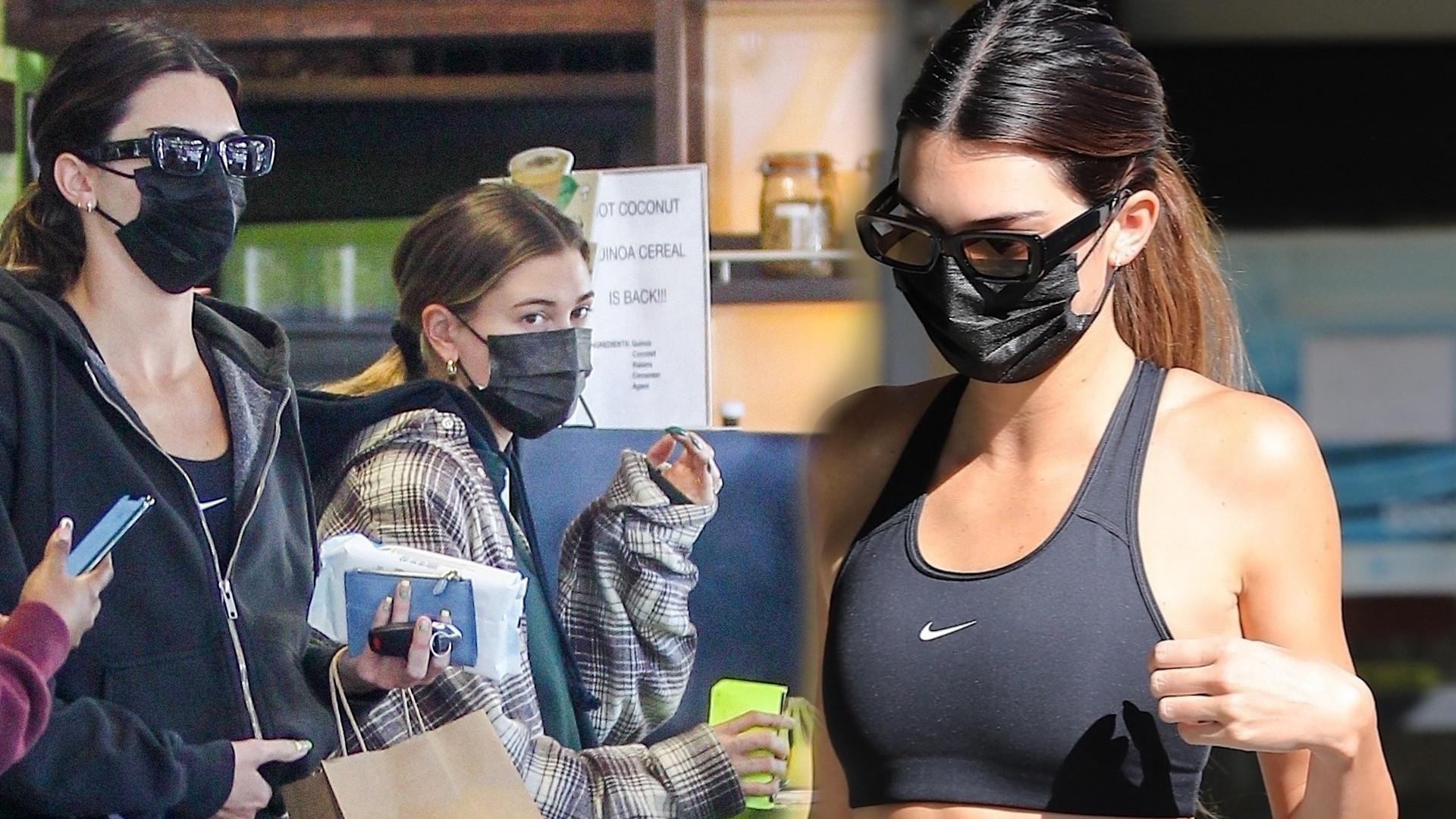 Kendall Jenner i Hailey Bieber wracają z siłowni. Widać, że Kendall ostro trenuje!