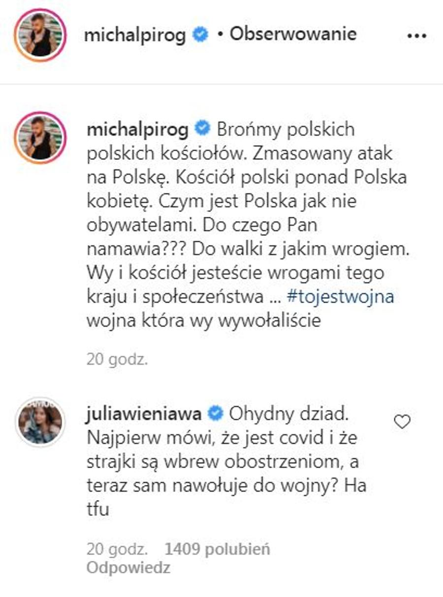 Julia Wieniawa wypowiada się o Jarosławie Kaczyńskim.