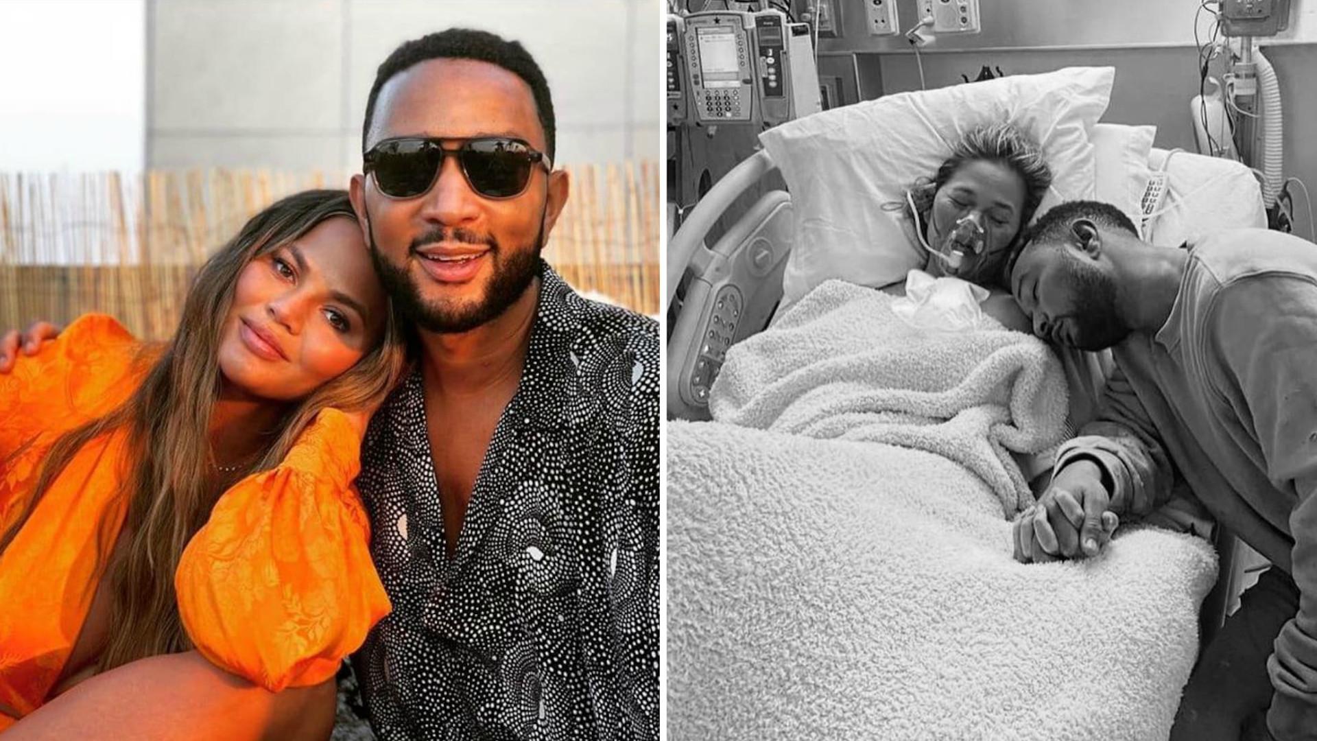 """Chrissy Teigen po poronieniu dodała zdjęcie ze szpitala. Dlaczego? """"Wiedziałam, że muszę zatrzymać tę chwilę"""""""