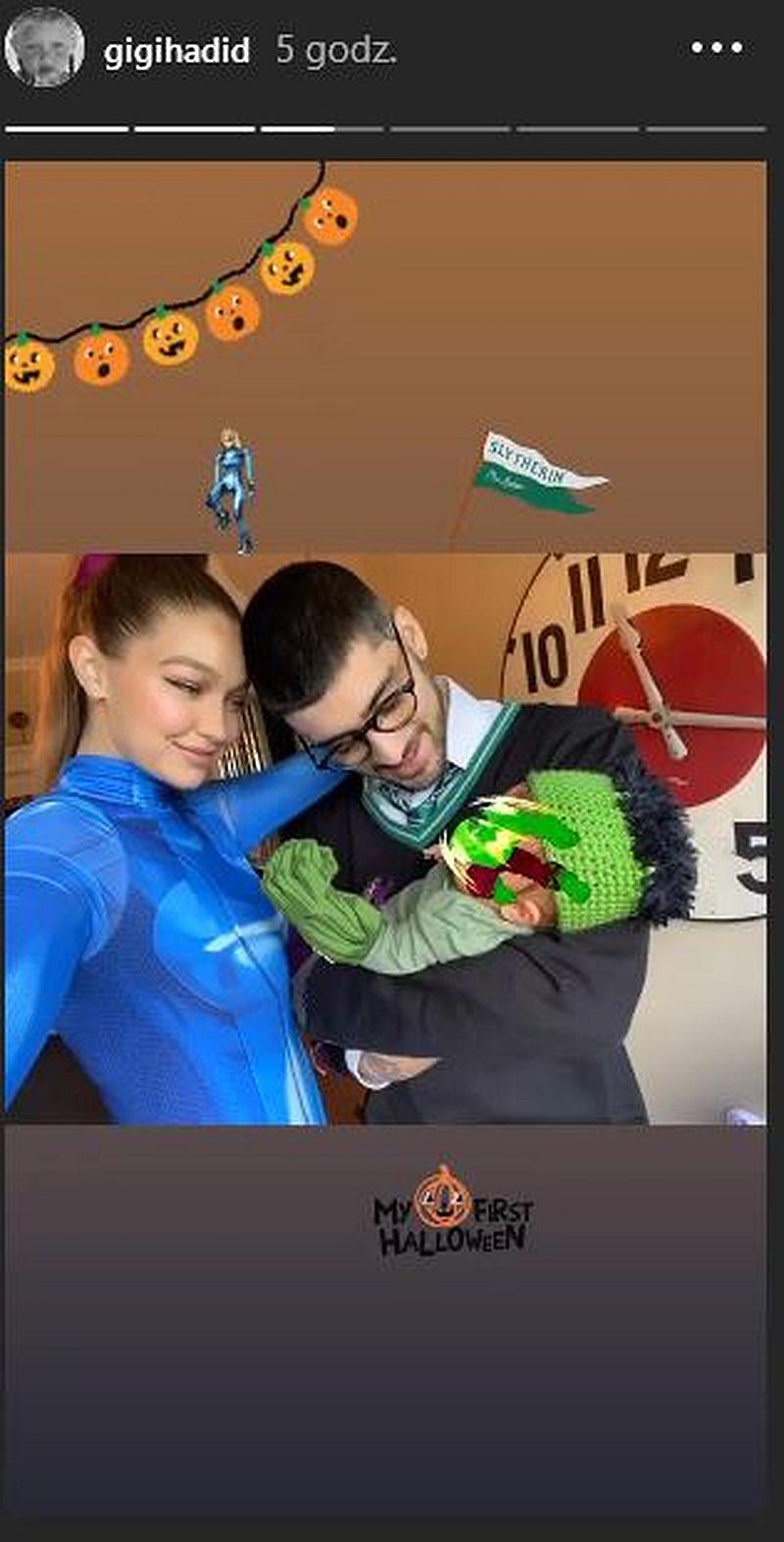 Gigi Hadid i Zayn Malik z córką przebrani na Halloween