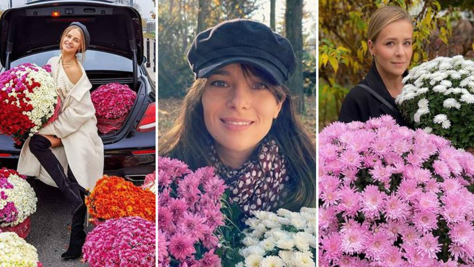 Gwiazdy MASOWO wykupują kwiaty po tym, jak cmentarze zostały zamknięte (ZDJĘCIA)