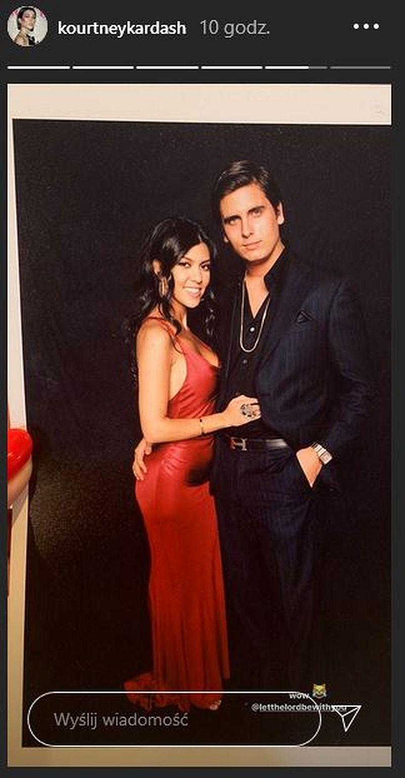 Kourtney Kardashian pokazuje archiwalne zdjęcie ze Scottem Disickiem