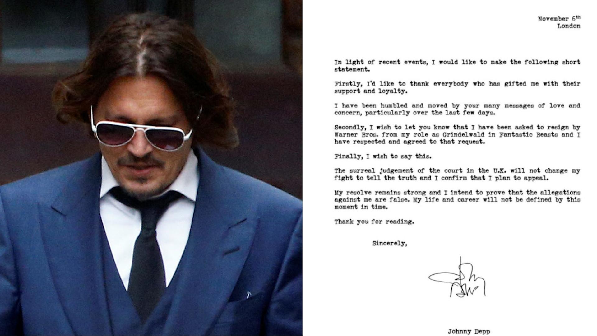 Johnny Depp stracił rolę po przegranym procesie. Wydał oświadczenie!