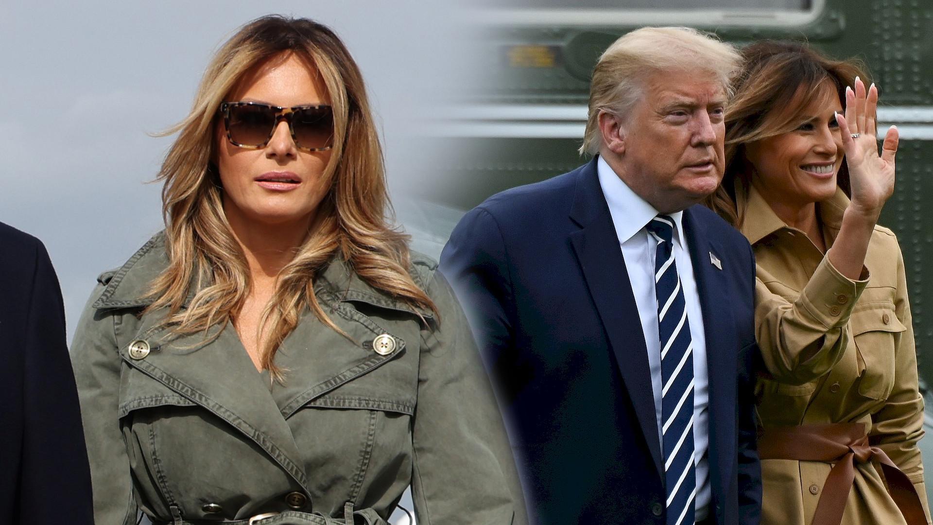 Melania Trump przyłapana na WYPROWADZCE z Białego Domu? Nagranie robi FURORĘ w Internecie