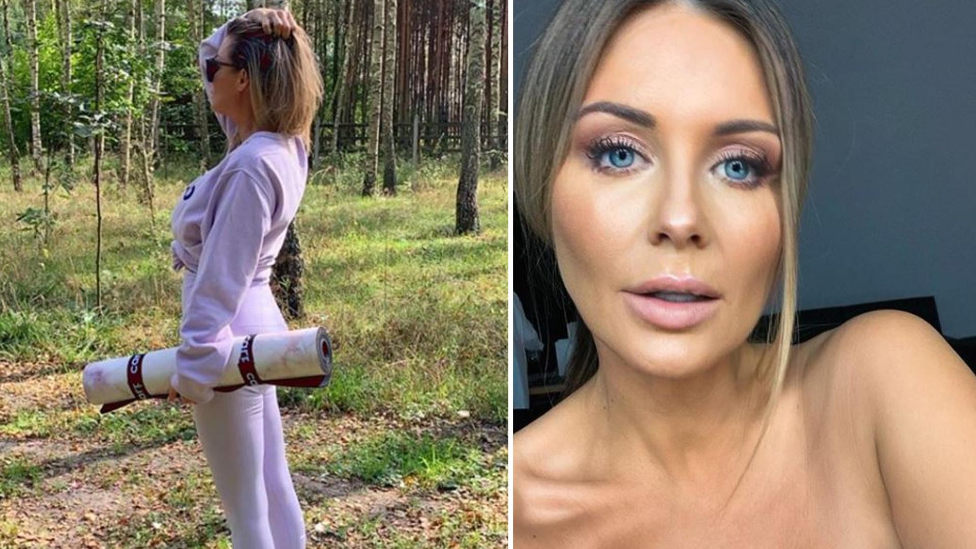 """Szczuplutka Małgorzata Rozenek ćwiczy jogę: """"Poskromienie złośnicy"""""""