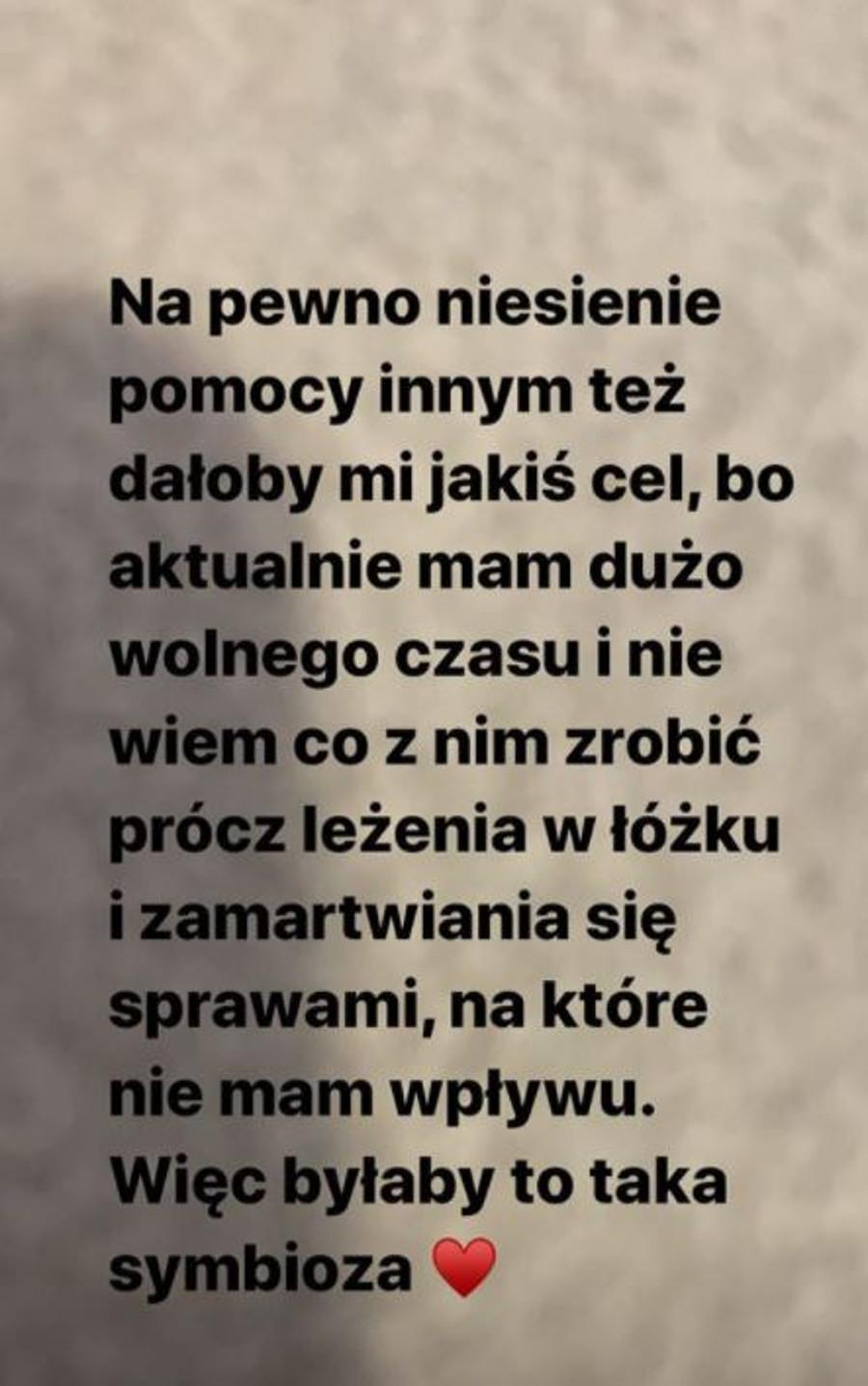 Julia Wróblewska chce być wolontariuszką.