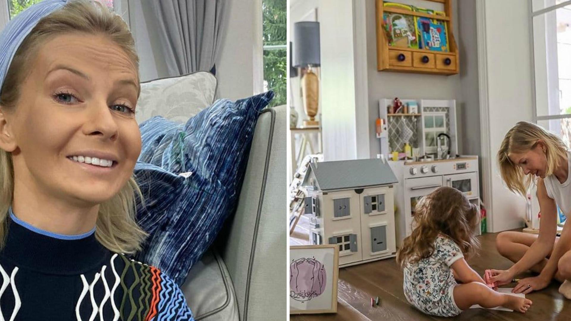 """Edyta Pazura pokazała, co jej córka zrobiła z kanapą. """"Z pamiętnika matki"""""""
