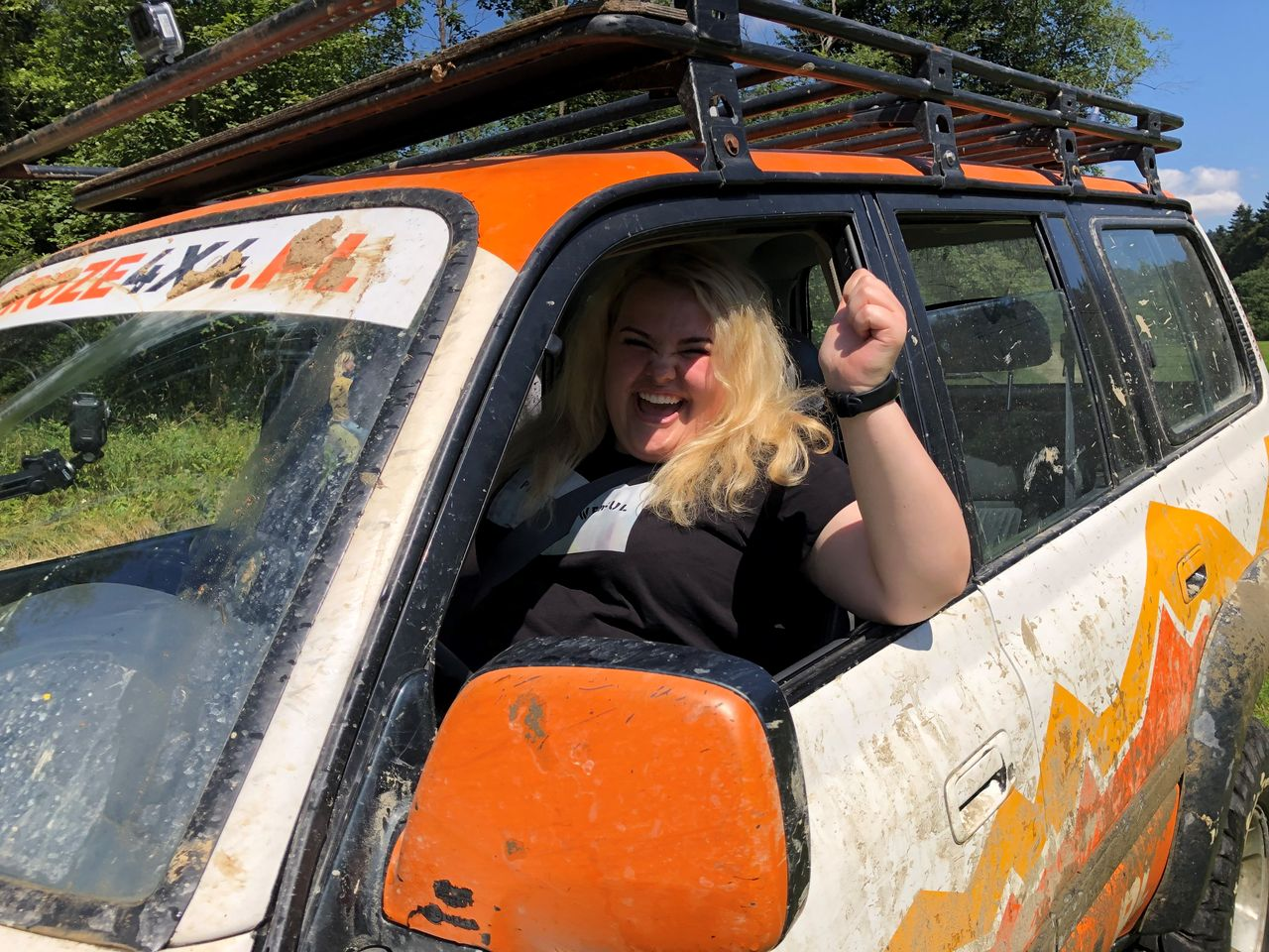 Kinga Zawodnik w samochodzie