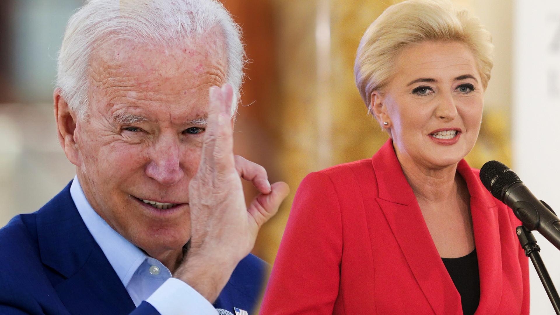 OMG! Joe Biden pokazał nagranie z Agatą Dudą