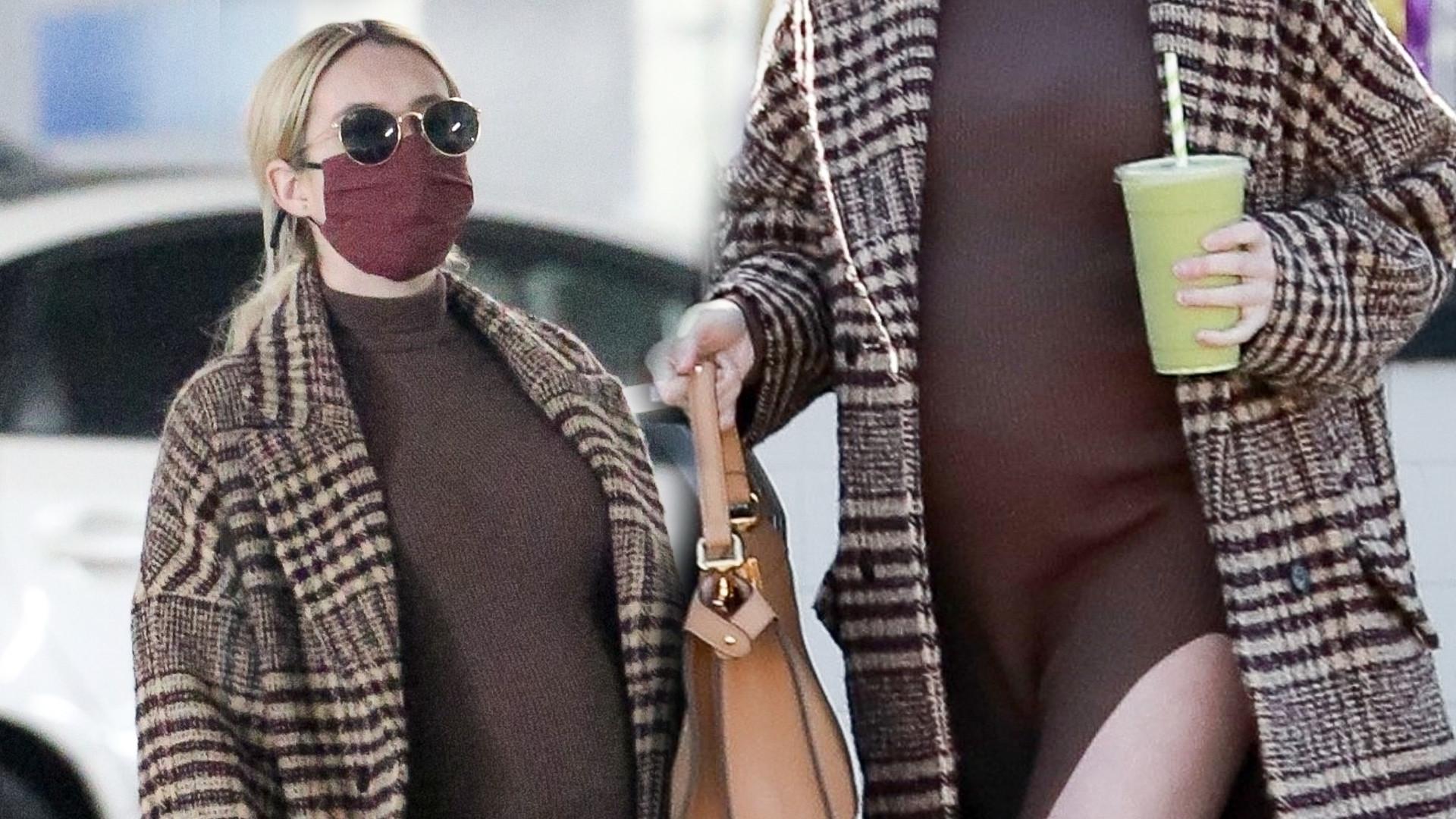 Emma Roberts w zaawansowanej ciąży nie rezygnuje z seksownych stylizacji