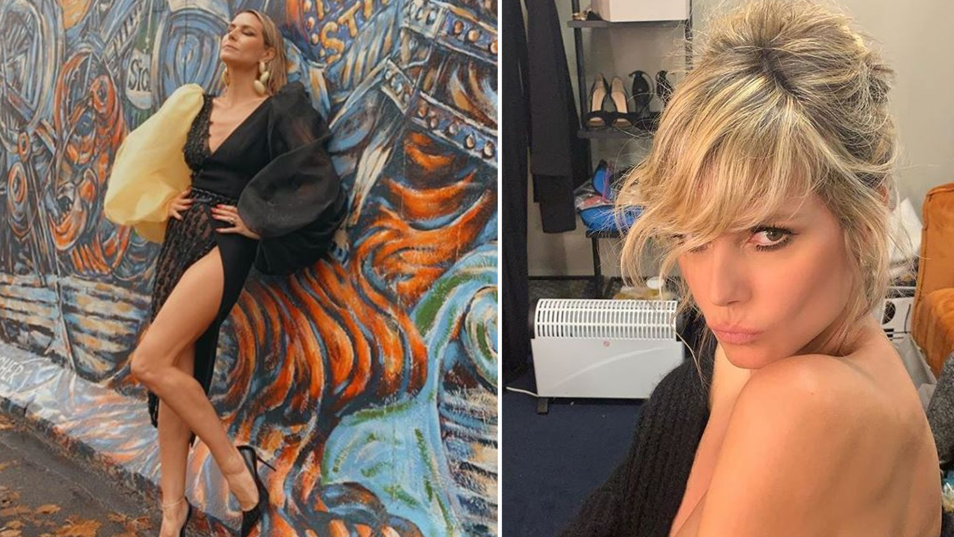 """47-letnia Heidi Klum ZALOTNIE TAŃCZY ubrana od stóp do głów w skórę: """"Sexy"""""""