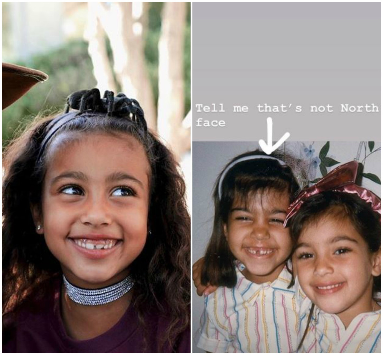 Córka Kim, North wygląda jak Kourtney Kardashian.