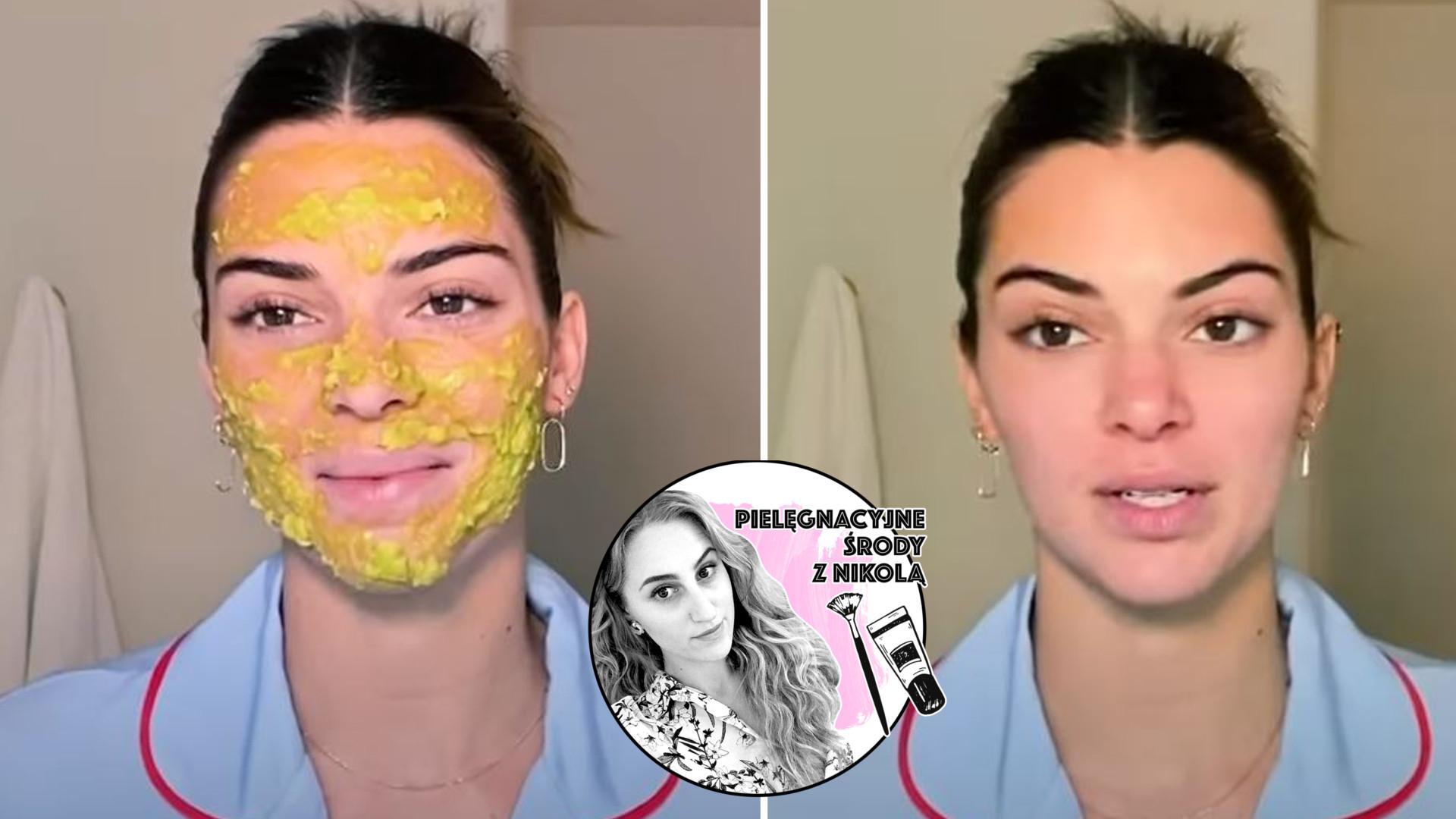 Kendall Jenner zdradza przepis na ULUBIONĄ maseczkę do twarzy z produktów, które masz u siebie w domu (PIELĘGNACYJNE ŚRODY)