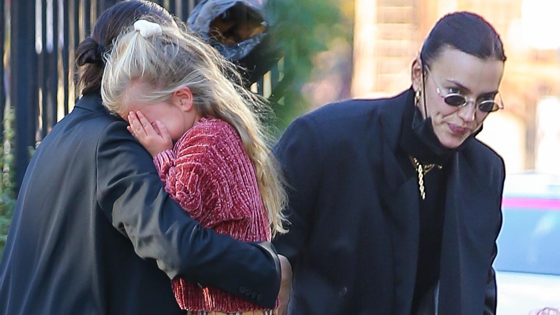 Córeczka Iriny Shayk zaniosła się PŁACZEM na ulicy. Co zrobiła modelka? (ZDJĘCIA)