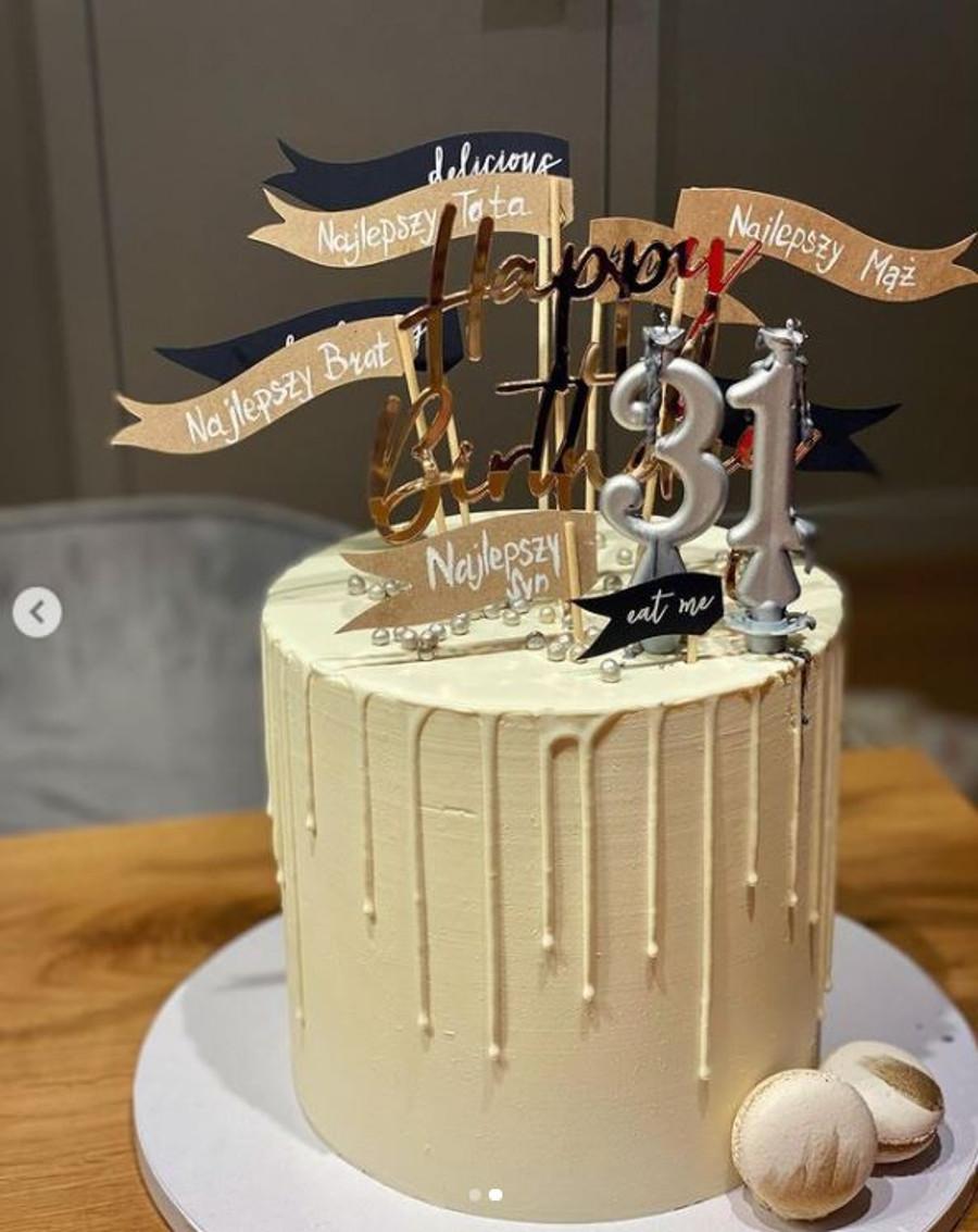 Agnieszka Kaczorowska pokazała tort urodzinowy dla męża.