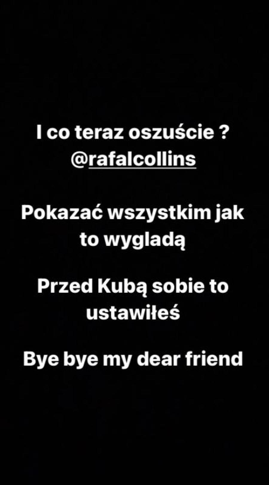 Daniel Martyniuk uderza w Rafała Collinsa.
