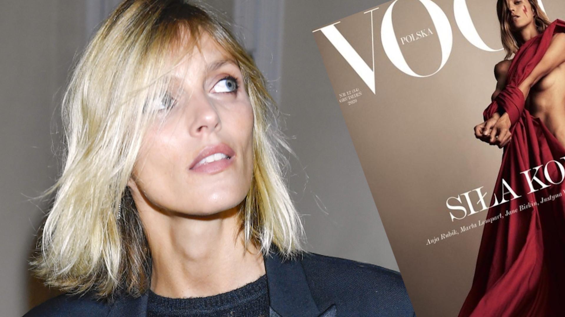"""Anja Rubik na okładce Vogue Polska: """"Są to najważniejsze i najbardziej osobiste okładki oraz autoportrety w mojej karierze"""""""