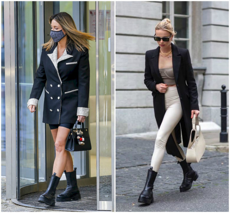 Małgorzata Rozenek i Maffashion w takich samych butach.