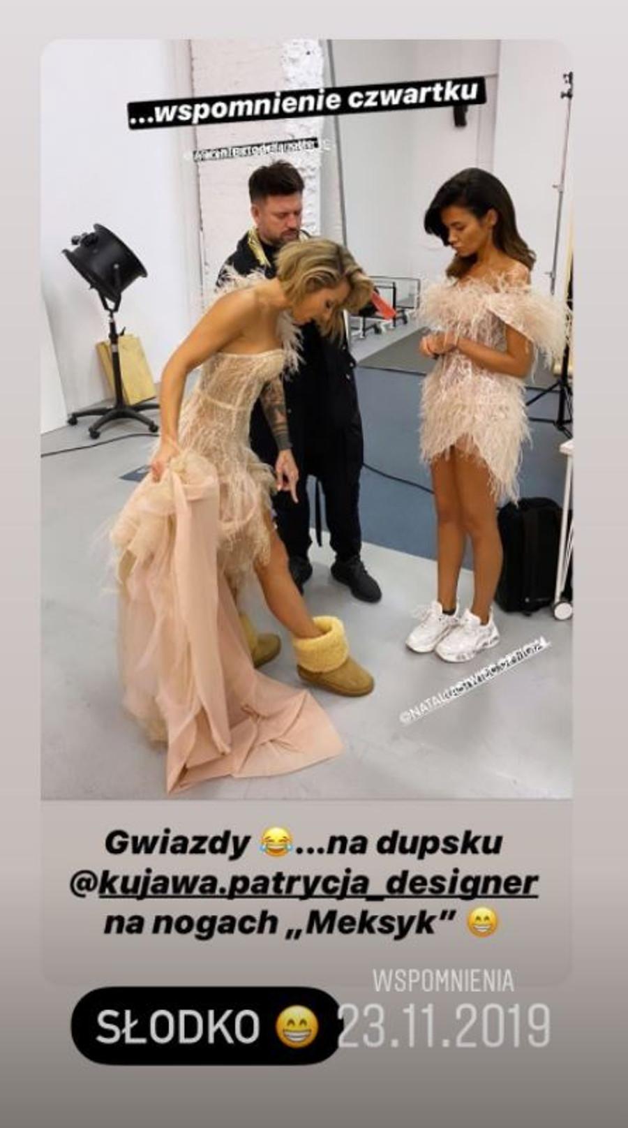 Blanka Lipińska na planie z Natalią Siwiec.