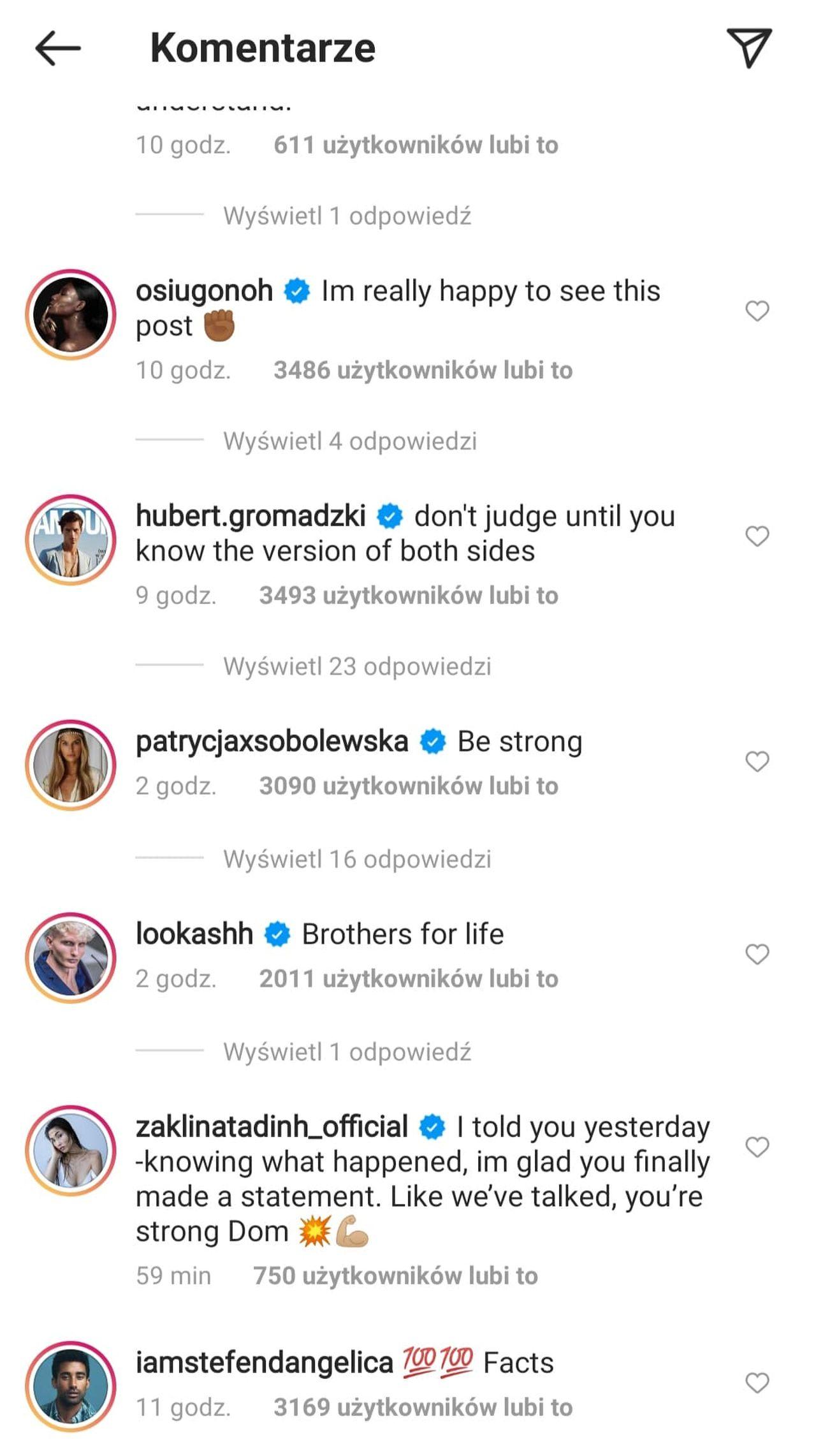Patrycja Sobolewska komentuje oświadczenie Dominica