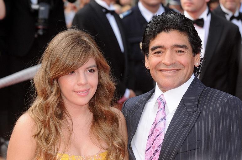Diego z córką Dalmą
