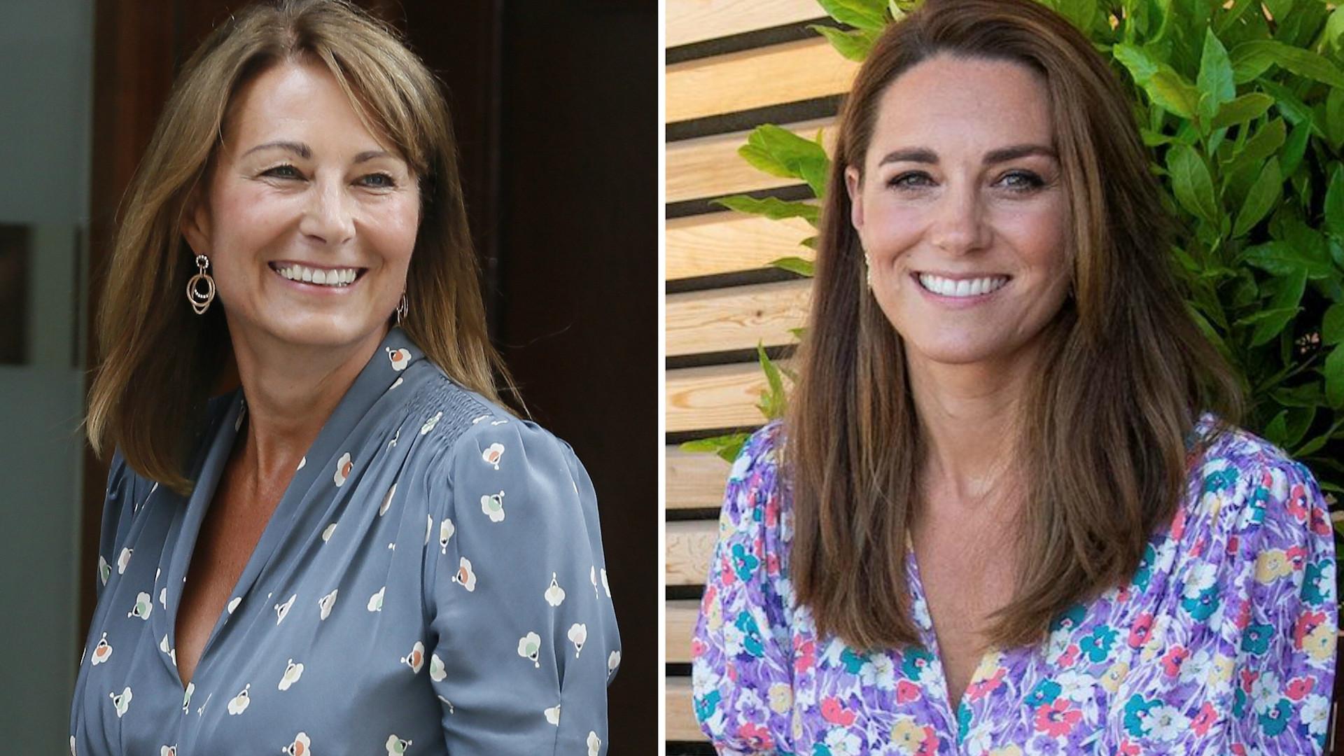 Księżna Kate ponownie w tej samej sukience. Identyczną ma też jej mama!