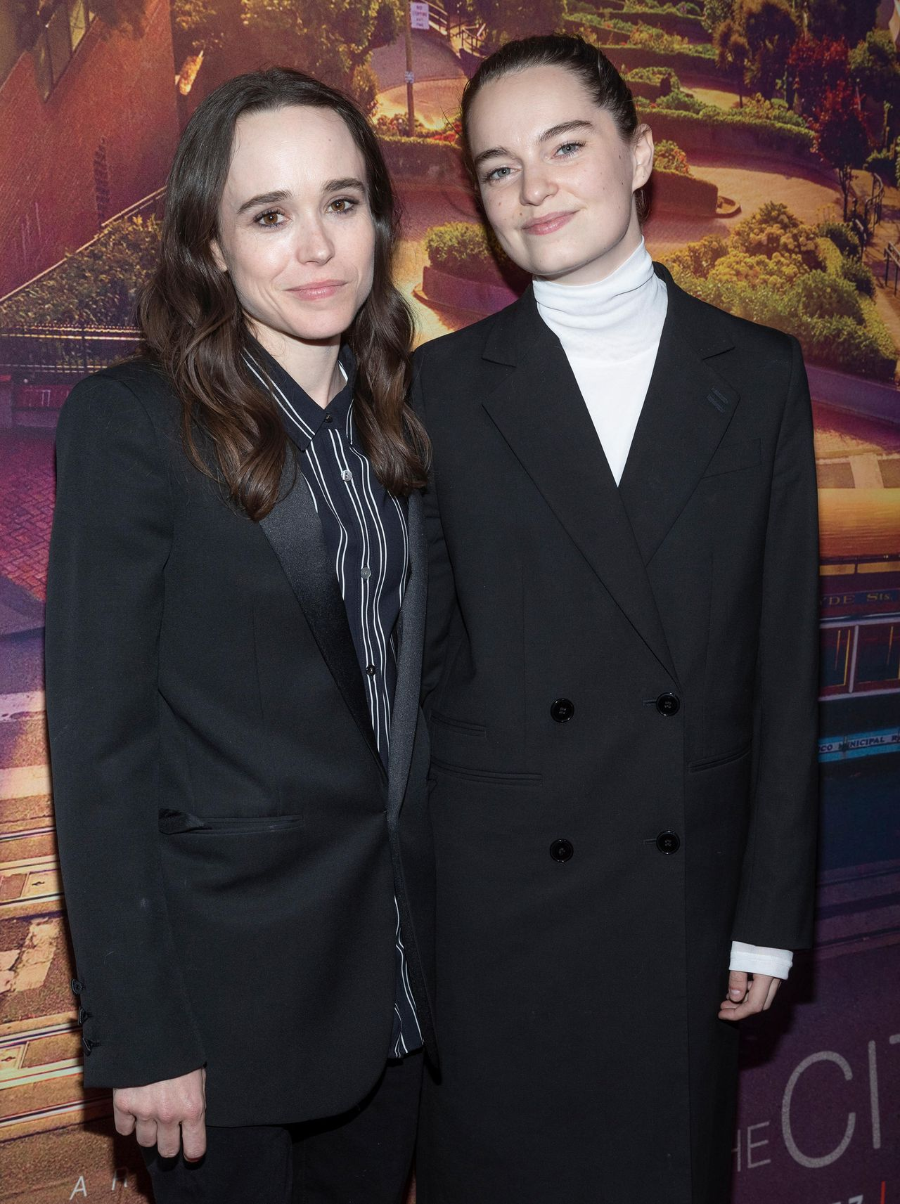 Ellen Page i Emma Portner na ściance
