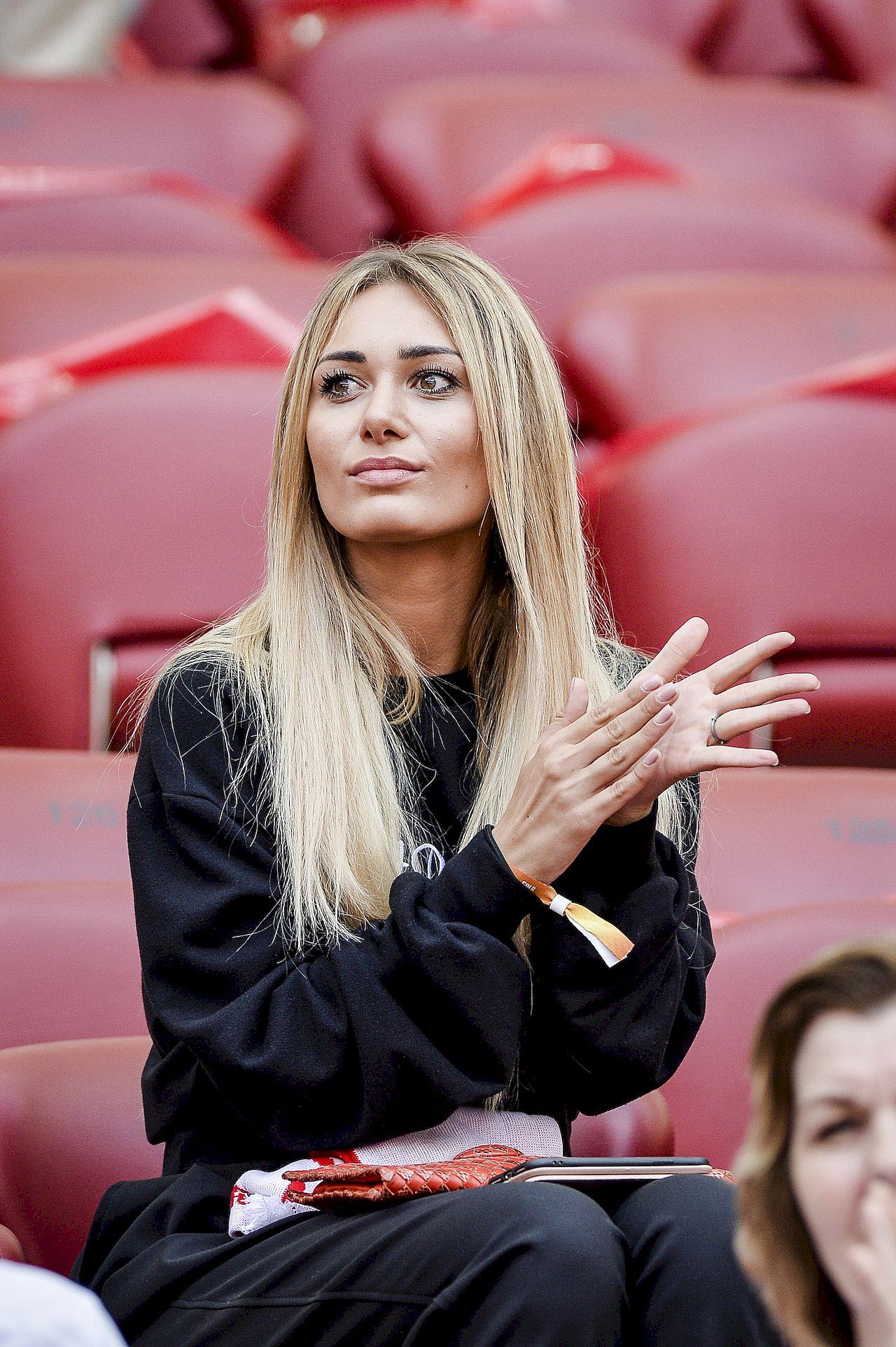 Jessica Ziółek na meczu