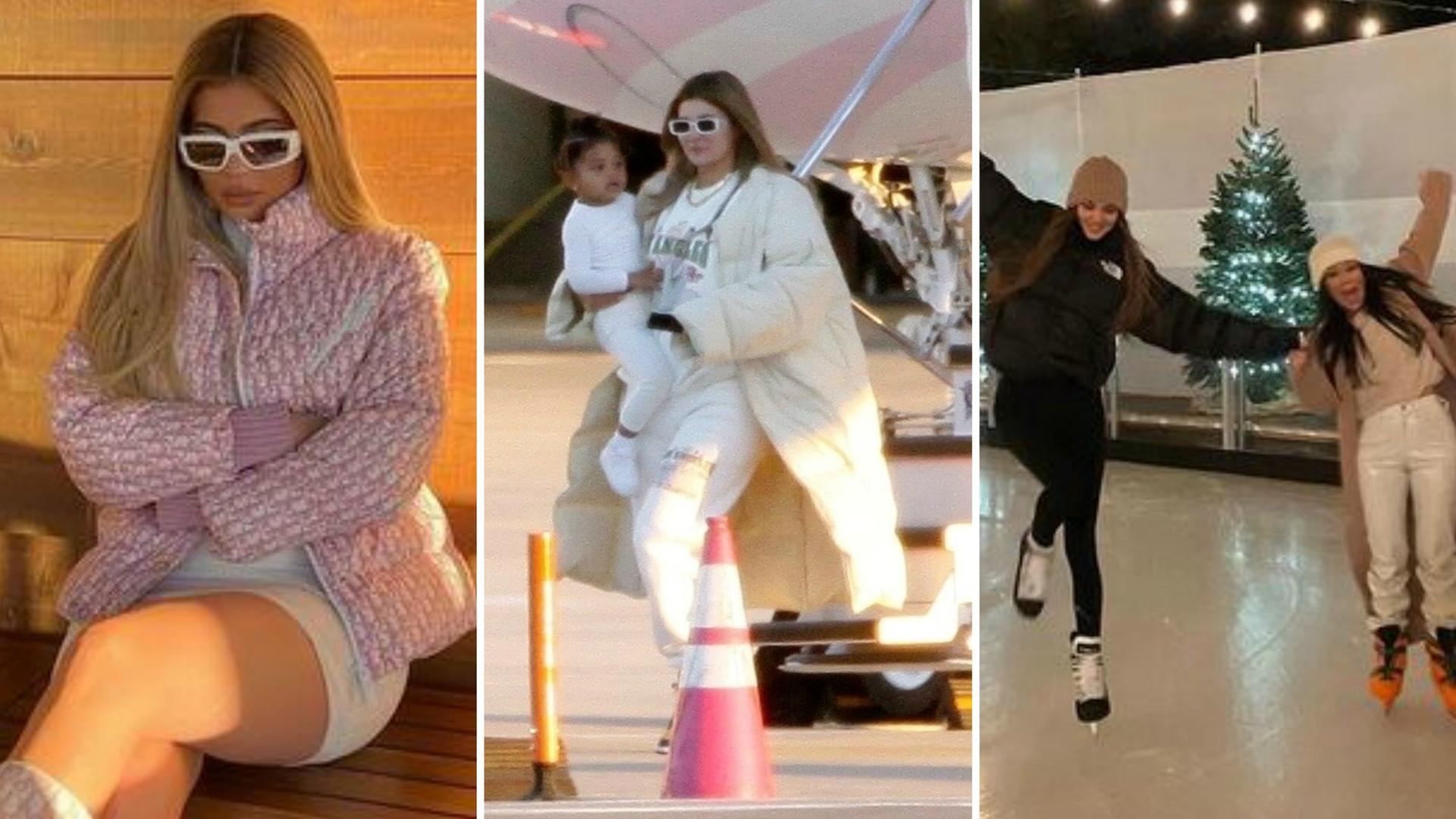 Kardashianki na zimowych wakacjach: BAJKOWE widoki i luksusowa chatka (ZDJĘCIA)