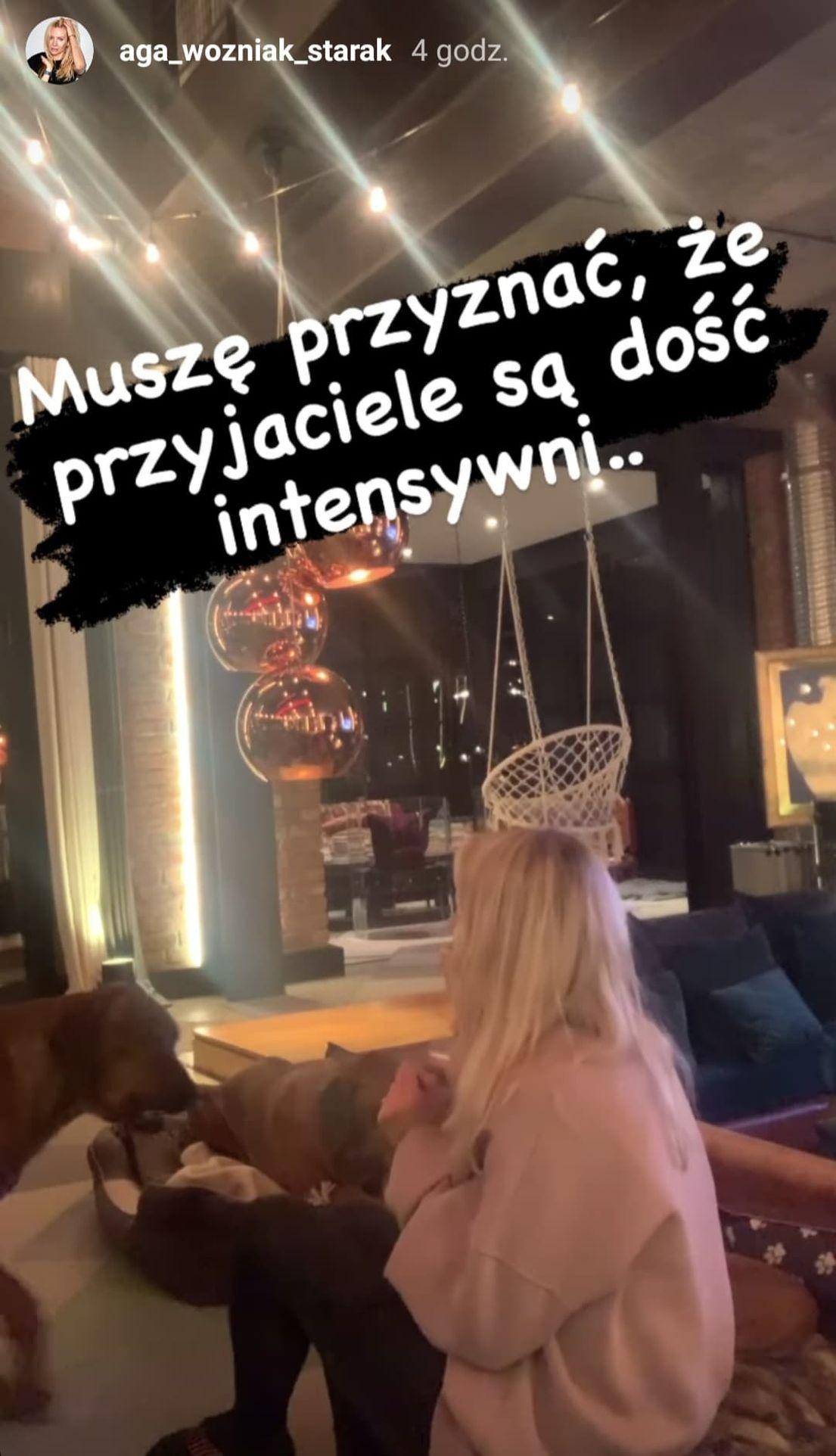 Agnieszka Woźniak-Starak w salonie