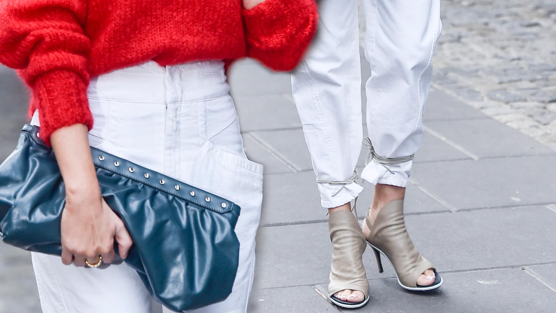 Gwiazdy pod studiem DDTVN w zimowych stylizacjach. ONA w odkrytych butach i bez kurtki