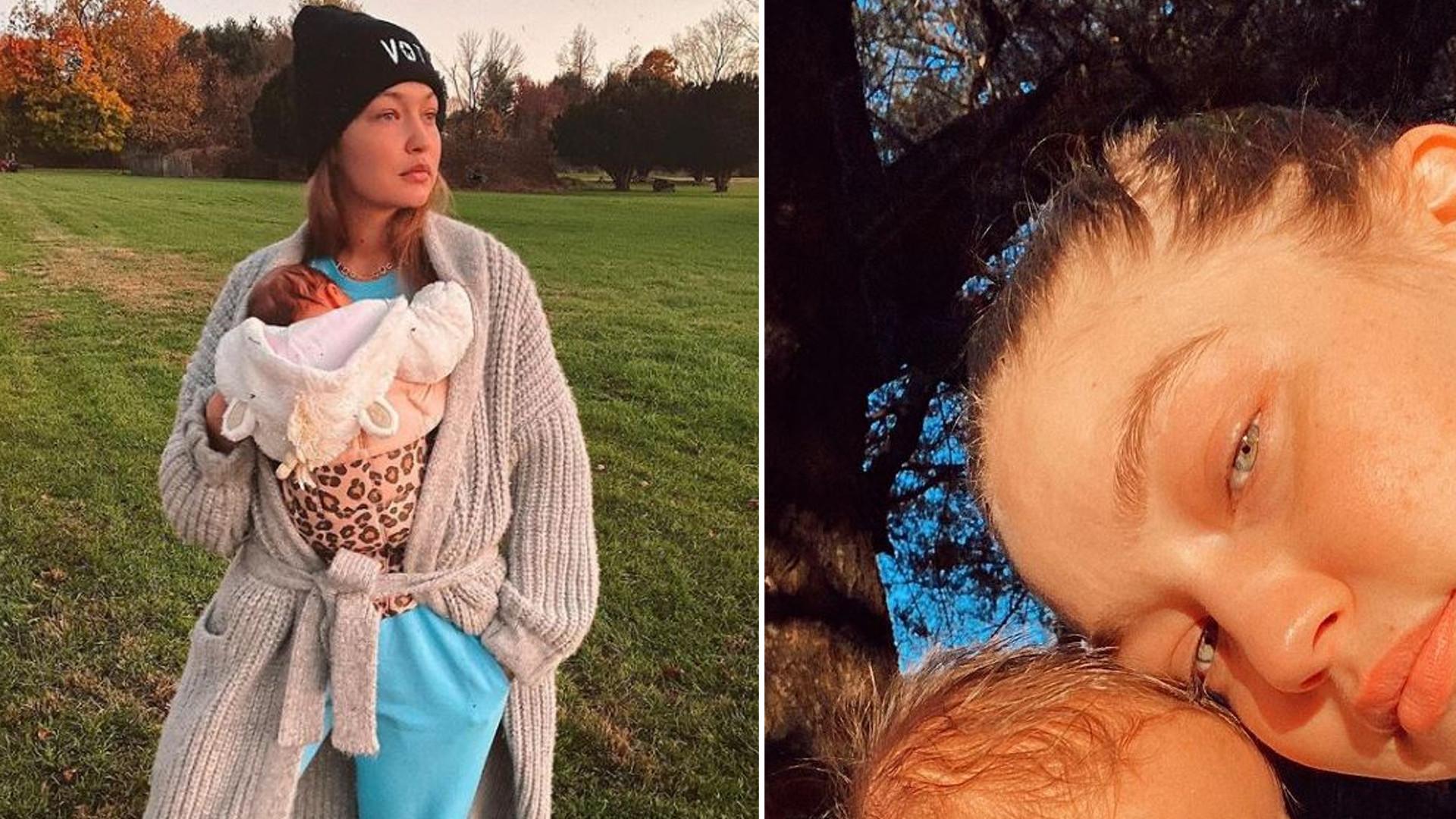 Gigi Hadid pokazała zdjęcie brzucha dzień przed PORODEM